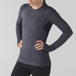 Lululemon Charcoal Think Fast Long Sleeve